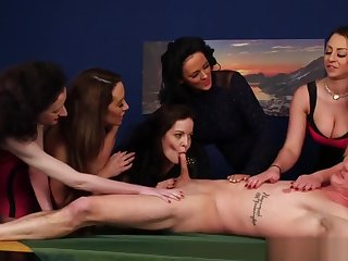 Sweet Cfnm Babes Blowing Unintentional Dudes Load of shit