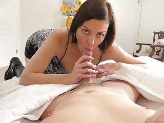 Greedy be required of sperm milf Sovereign Syre gives a great POV blowjob