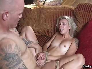 Dude punishes and fucks blond hair lady girlfriend