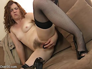 hotness mother I´d take pleasure in to leman lady plays close to their way hairy coochie - toys