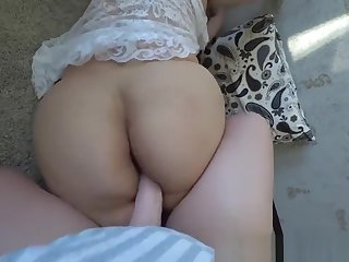 Step mommy fucks her lady with a big juicy hinie