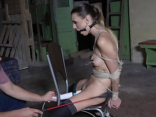 Submissive young girl in scenes of brutal coition
