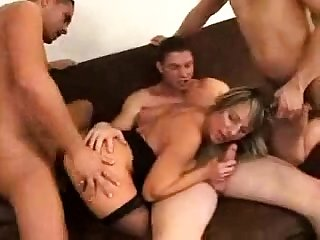 Bisexual hardcore steadfast organize fuck and blowjob orgy