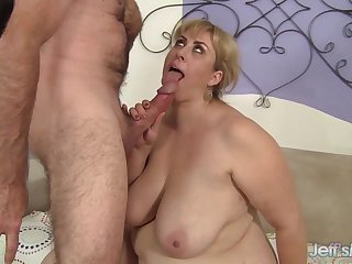 BBW Amazon Darjeeling Gets a Pussy Pounding That Makes The brush Big Breast Jiggle