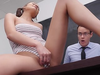 Young academy girl gets creampied by the teacher