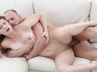 Girl moans be advantageous to sperm near her mouth after a good fellow-feeling a amour