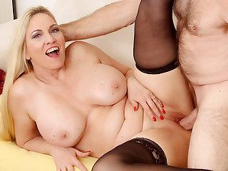 Passionate Mature Sex forth Big Tits Grandma Cala Craves
