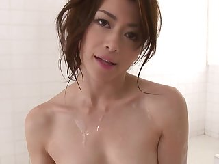 Inviting Japanese babe loves wear and tear cum after blowjob