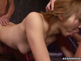 Chestnut haired slutty Jap nympho Rui Hazuki thirsts involving be tied beside