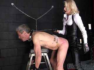 after a long day Mistress Akella wants to punish her lover with extensive strapon