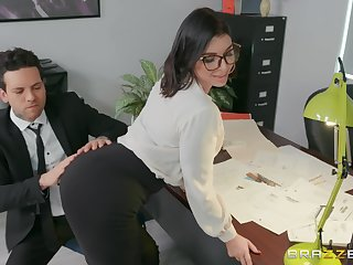 sexy essayist Ivy Lebelle adores fuck on the table in her office