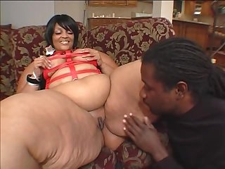 Fat black unladylike Farrah Foxx craves to feel a cock up her snatch