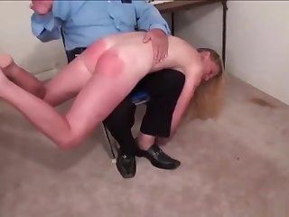 The flat-chested new submissive gets her first caning (Part 1)