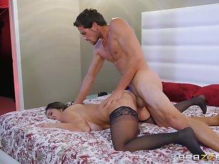 Thick milf Ava Addams rides a fat dick groove on a pleasurable slut