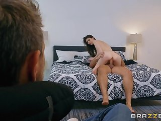 Cuck husband watches his wife enjoys a fat cock