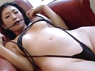 Exotic Japanese chick in New Solo Girl JAV scene exclusive version