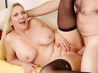 Passionate Mature Sex forth Big Tits Grandma Cala Craves