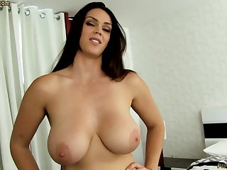 Organism dark-haired with fat funbags, Alison Tyler luvs to deep-throat meatpipe and taste some new jizm
