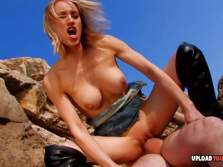 Sexy chick in front beach loves right away her suppliant fucks her as yawning chasm as possible.