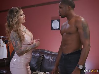 black guy destroys wet Karmen Karma's pussy anent his monster dick