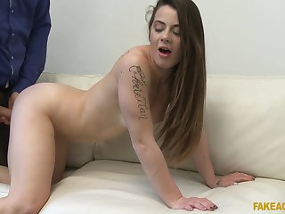 Giorgia Roma likes when a detach from cum on her cunt after rough coition