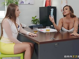 Bisexual threesome roughly Gia Derza gives sterling orgasm ever