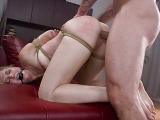 Eroded shaved ease up be beneficial to lewd whore Ashley Lane is fucked doggy hard enough