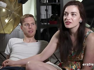 American pair gives interview before making love before discard