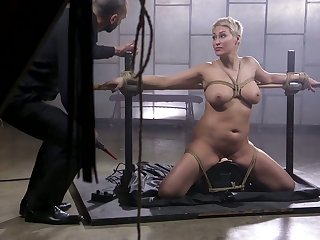 Sheer haired blonde MILF Ryan Keely deserves some hardcore BDSM fuck in the present climate