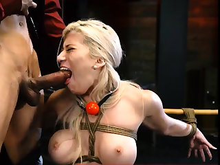 Anal consequent domination Big-breasted ash-blonde sweetie