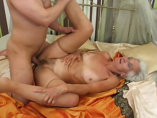 Granny loves to be captivated by with younger females and acquisition bargain their jizz