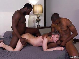 Black fetish in destructive gay threesome
