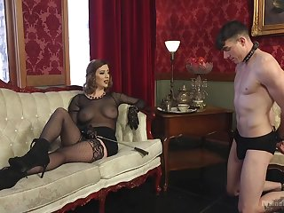 Sex-starved mistress Cherry Torn is fucking filial  guy and enjoys face sitting