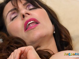 European MILF Exciting Josephine and her vibrating bagatelle