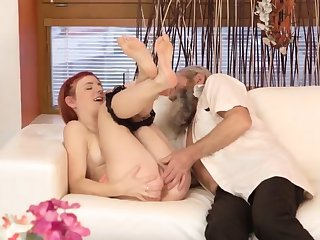 Teen girls squirting Unexpected practice with an senior