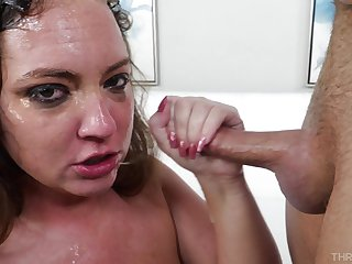 Pick babe gets facialized in the most astounding manners