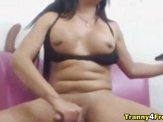 Wanking Huge Cock Tranny Slut essentially Cam