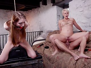 Good anal BDSM with two dutiful whores