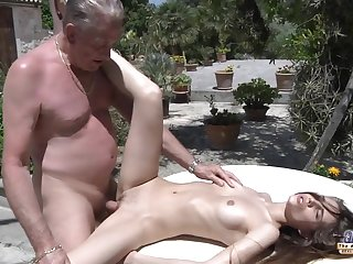 grasping pussy and old man  - Amateur Sexual intercourse