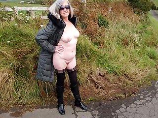 Debbie Naked Under Her Coat