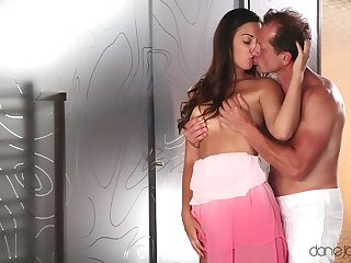 Special XXX cam porn with step daddy here cream those razor-sharp boobies