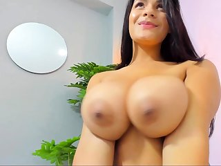 Busty curly brunette to big boobs fucks on Davenport