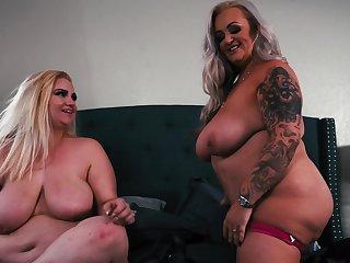 Ass, Bbw, Big ass, Big tits, Blonde, Lesbian, Milf, Strapon, Tits, Toys